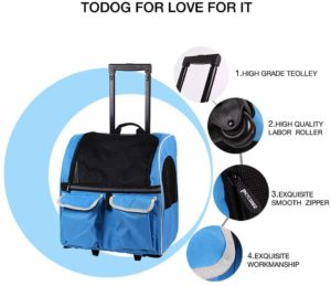 Approved carrier for cabin travel bag for puppies